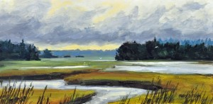 A painting by Maine artist, Mary Byrom