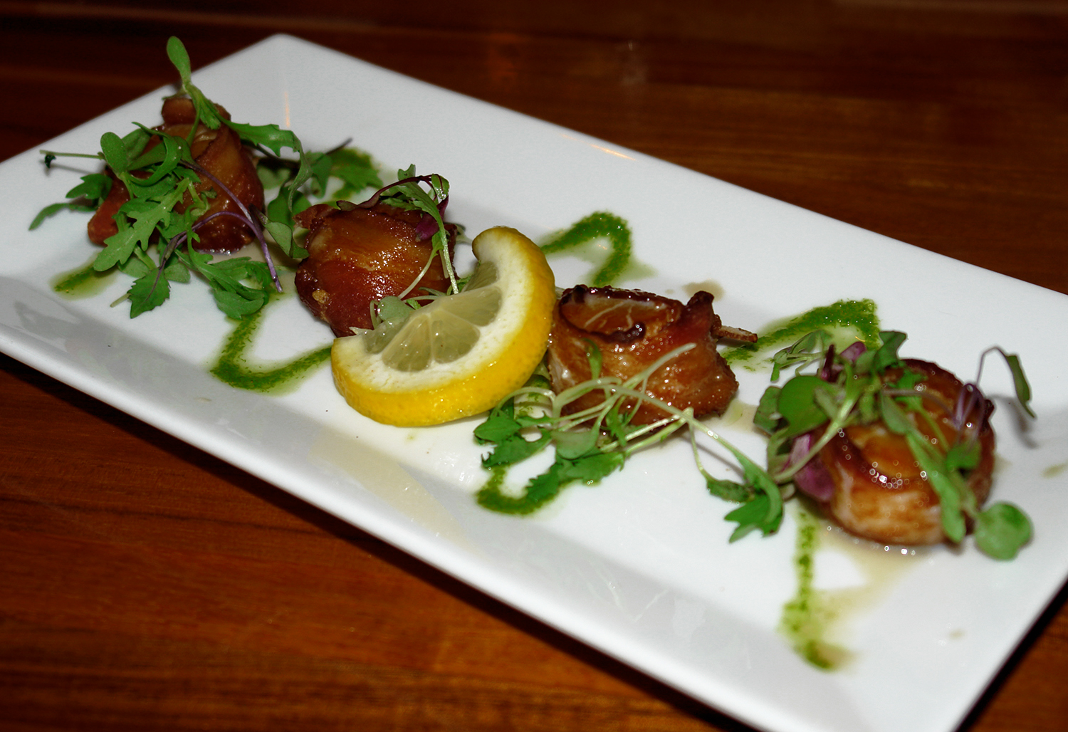 That Place in Ogunquit – Maple Glazed Bacon Wrapped Scallops