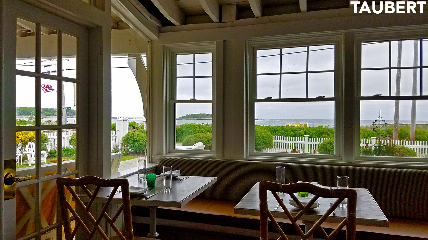 View of Goose Rocks Beach from the dining roomNearby Ogunquit   Tides Beach Club in Kennebunkport   Ogunquit  . Porch Dining Room Kennebunkport. Home Design Ideas