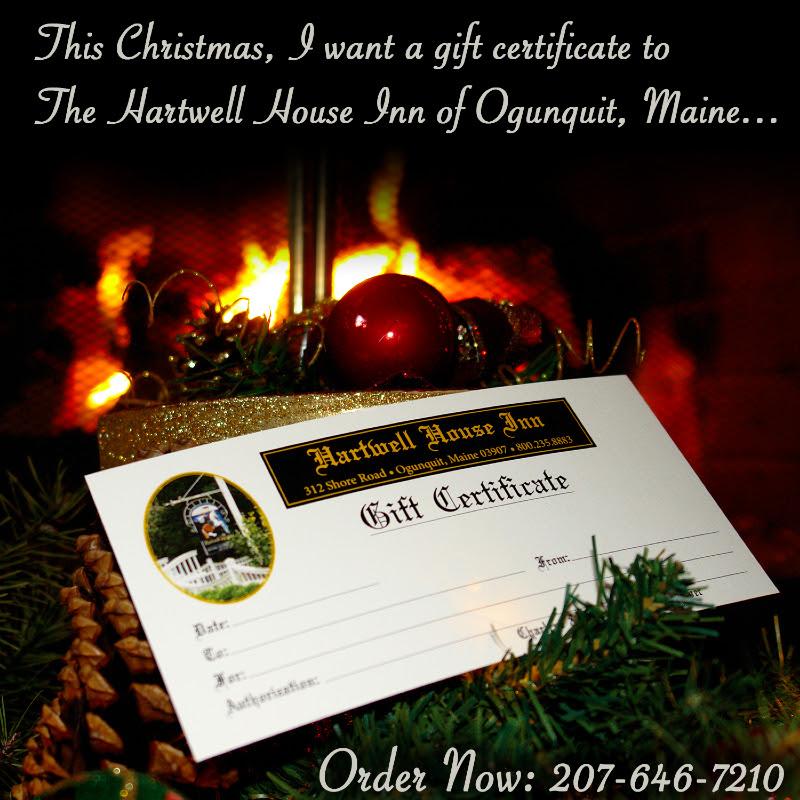 Hartwell House Inn Gift Certificate