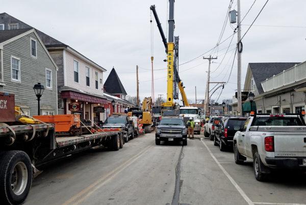 Mathew J. Lanigan Bridge is Placed   Kennebunkport, Maine