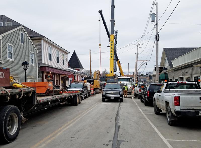 Mathew J. Lanigan Bridge is Placed | Kennebunkport, Maine