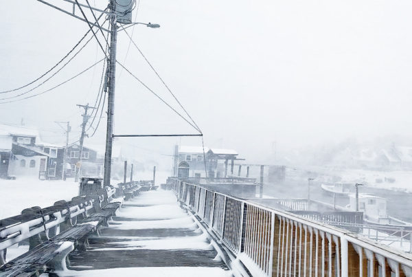 Winter Storm Stella Brings Snow To Ogunquit Maine
