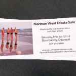 Ogunquit Maine Artist Norman West Estate Sale